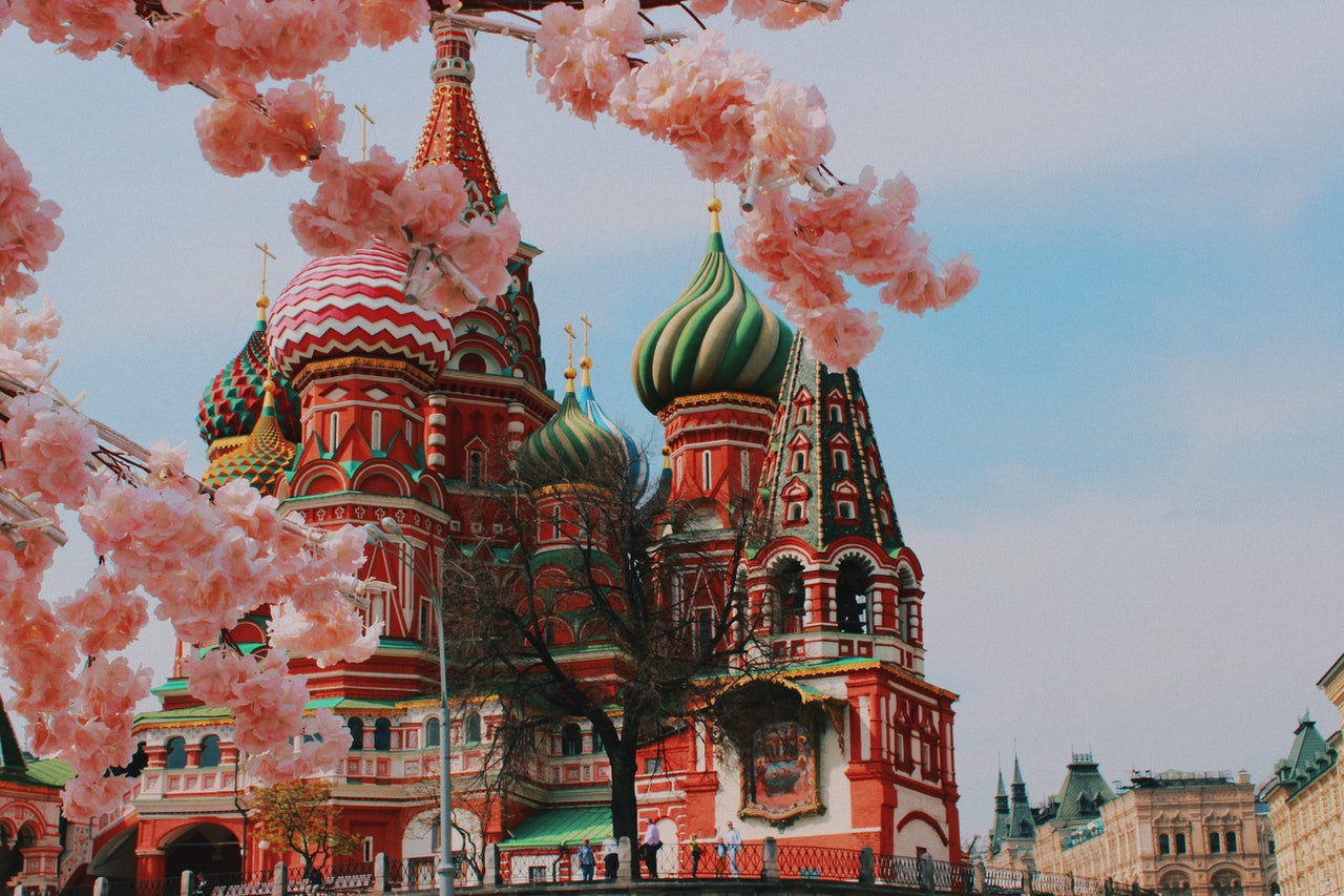 red square on a sunny day