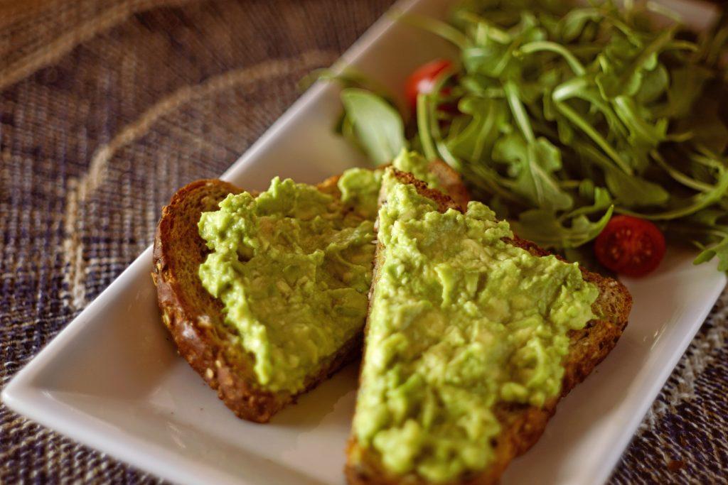 guacamole on toast