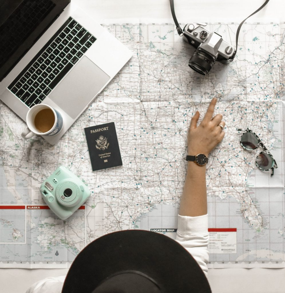 girl planning travel and travel tips