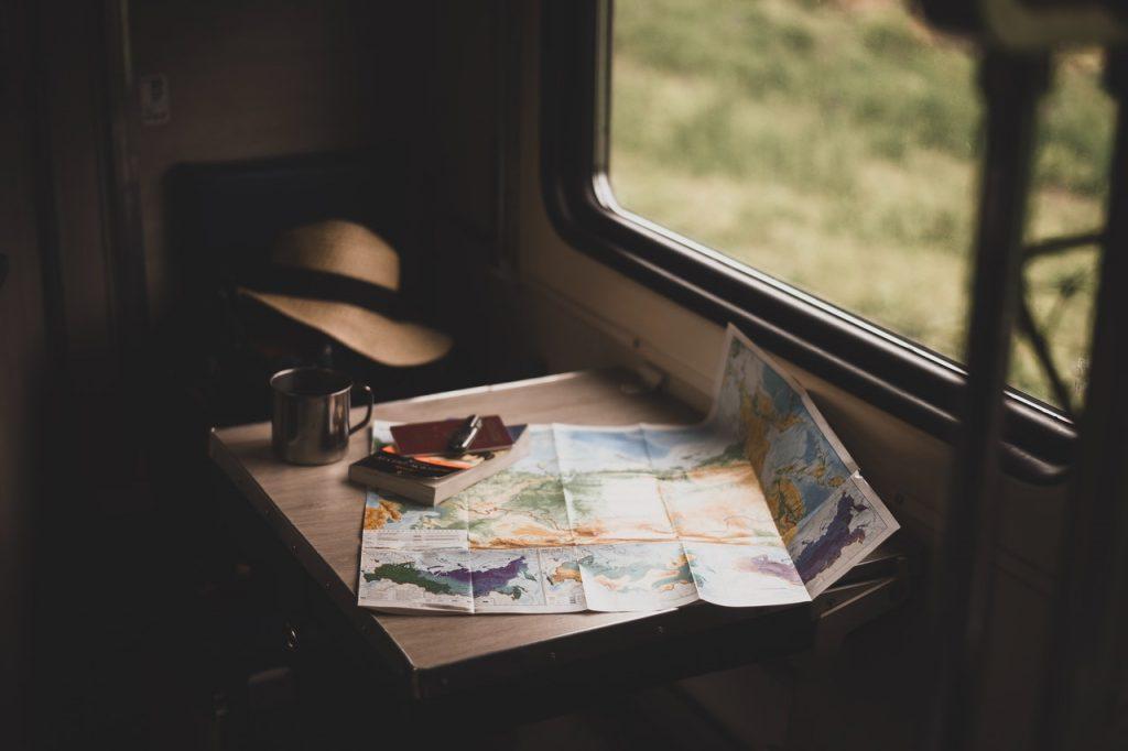 travel essentials in train