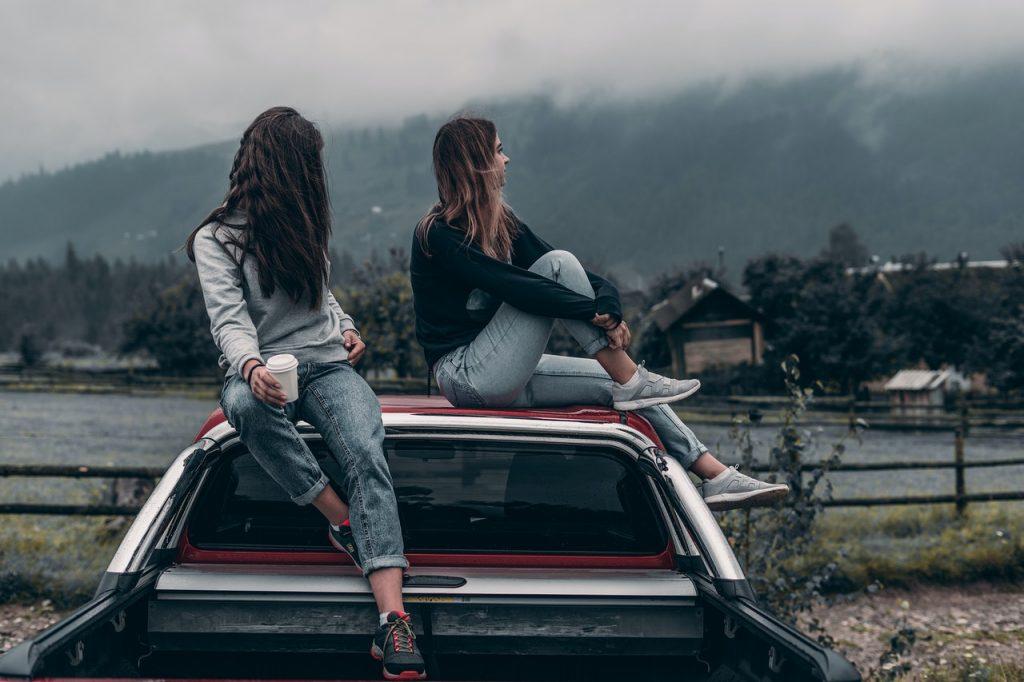 two girls on weekend get-aways